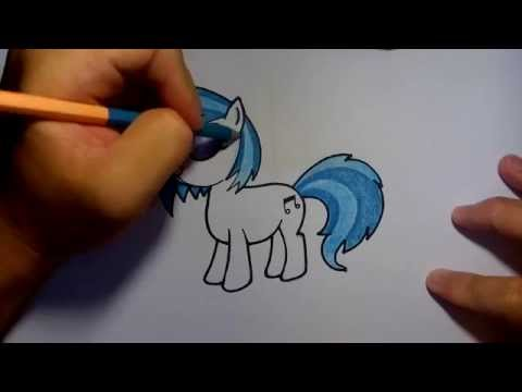(ระบายสี) วาดการ์ตูนกันเถอะ วาดรูปการ์ตูน มายลิตเติ้ลโพนี่ DJ pon3 my little pony