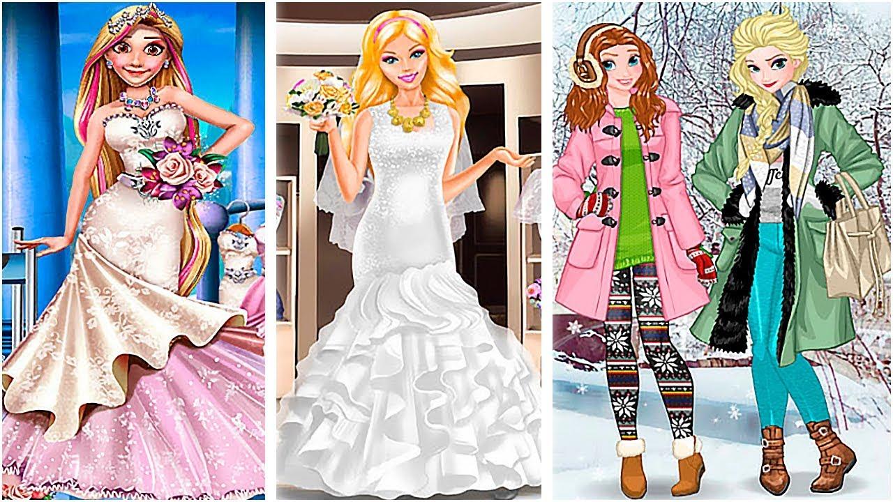 Girls Make Winter Wedding Shopping - Fun Makeup And Dress -1758
