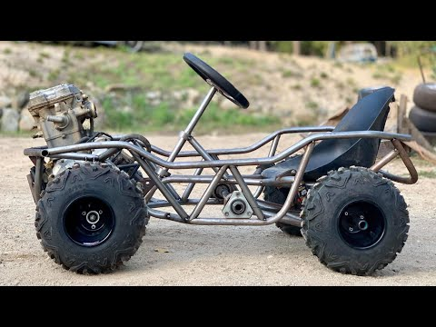 Power Wheels Go Kart Runs! + Off Road tires!