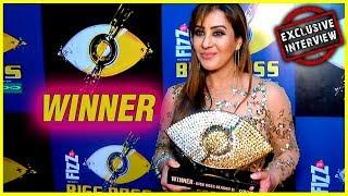 connectYoutube - Bigg Boss 11 Winner Shilpa Shinde Exclusive Interview | Bigg Boss Winner Trophy