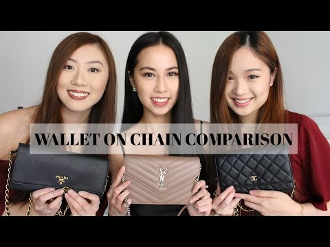 Wallet On Chain (WOC) Comparison (Prada, YSL, Chanel) 2017 | PCC Tv