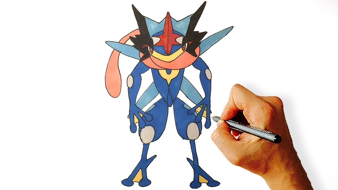 How To Draw Greninja Pokemon Easy Drawing Lesson For Beginners Youtube