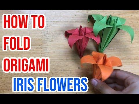 How to Fold Origami Iris Flower | VUNU ART (Ep.14)