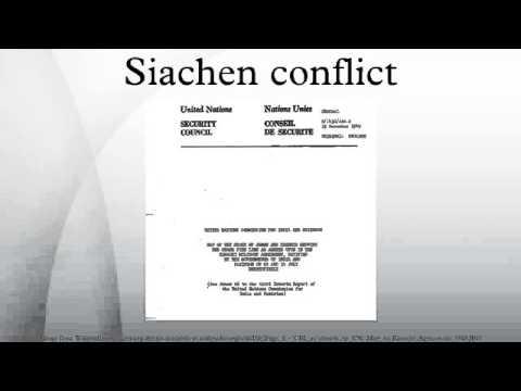 Siachen conflict