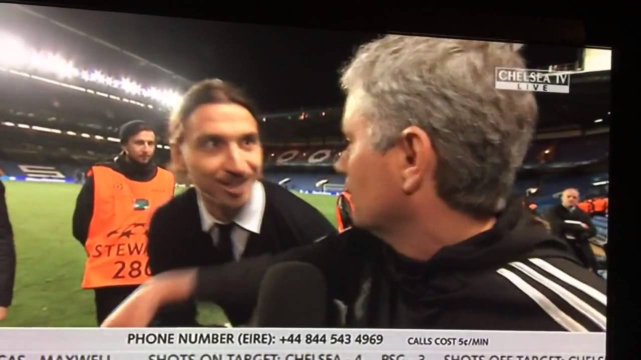 Download Ibrahimovic wishes Mourinho good luck in the Champions Le