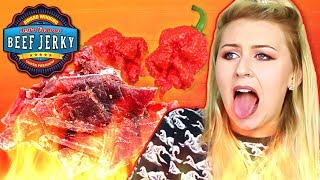Irish People Try Spicy American Beef Jerky (Carolina Reaper)