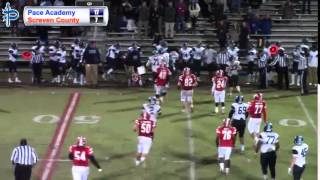 Pace Varsity Football vs. Screven County (GHSA State Playoffs Round 2)