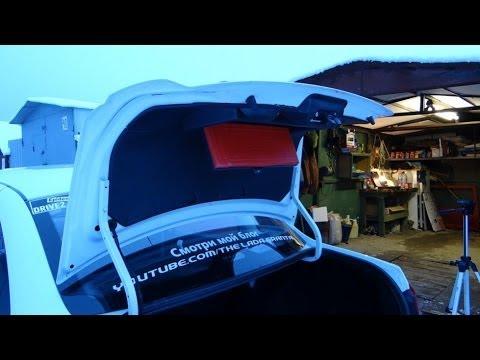 Lada Granta - установка обшивки крышки багажника. Часть 2.