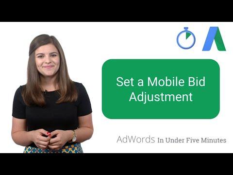 Set a Mobile Bid Adjustment - AdWords In Under Five Minutes