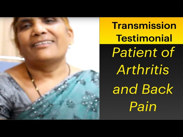 Patient of Artritis and Back Pain