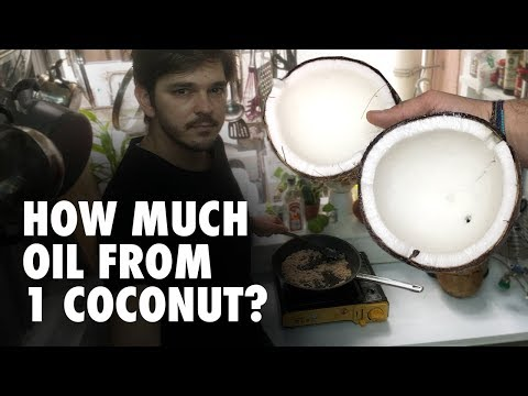 How to make coconut oil at home (easy) – How much oil from 1 coconut?