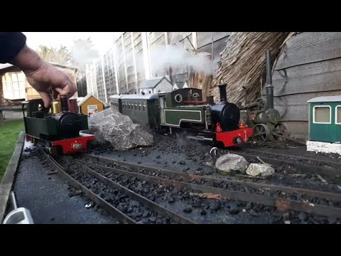 G Scale live steam trains