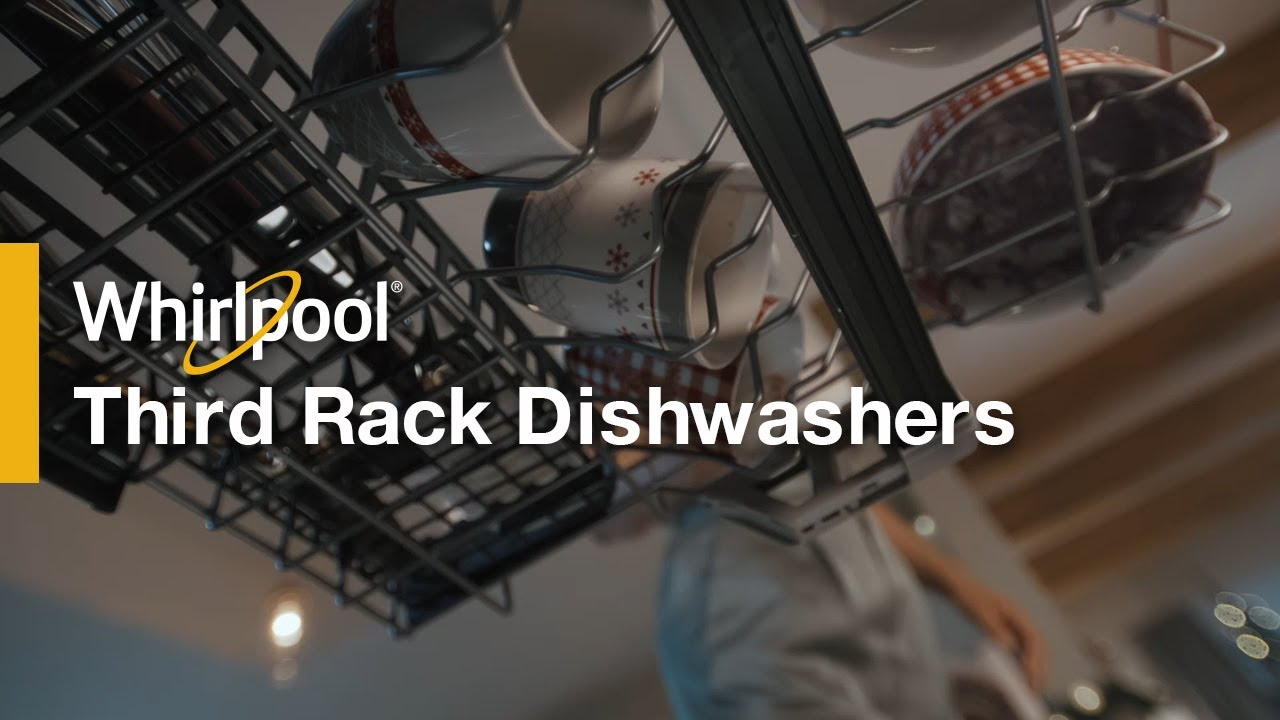 holiday whirlpool dishwashers with the largest capacity third rack