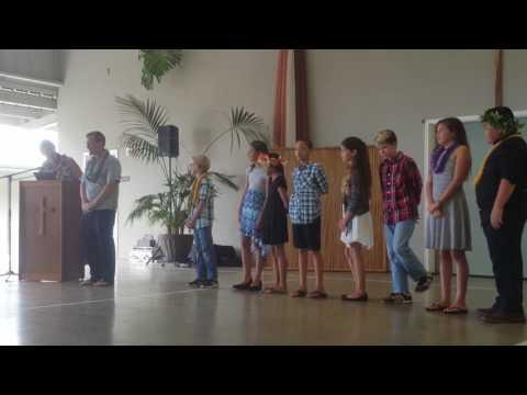 2017 5th Grade Graduation at Makua Lani Christian Academy in Kailua Kona, Hawaii