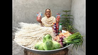 Veg Noodles Recipe ❤ Chilli Garlic Hakka Noodles prepared by Grandma | Village Life | Village Food