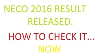 Download Video NECO releases 2016 JuneJuly SSCE results MP3 3GP MP4