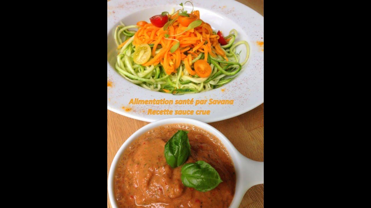 recette spaghuetti cru et sauce crue - youtube