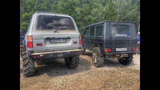 "Land Cruiser 80 41"" Mercedes Gelandewagen 39"" uaz hunter 37"". Суровый оффроад. Ч.1"