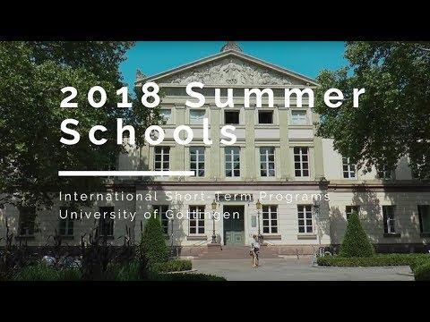 Summer Schools 2018 in Göttingen