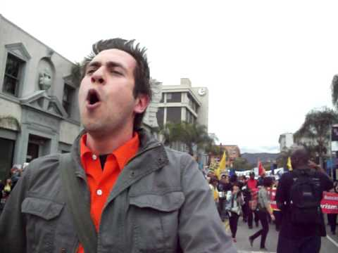 """""""The War for Terror-tory"""" excerpt by David A. Romero at ANSWER Coalition Protest March 19th, 2011"""