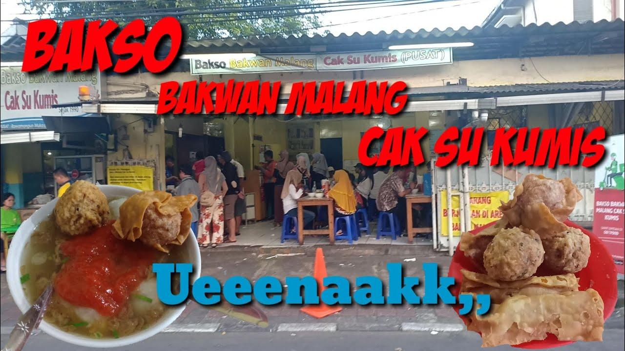 Chupop89 Vlog Bakso Bakwan Malang Cak Su Kumis Nampol Youtube