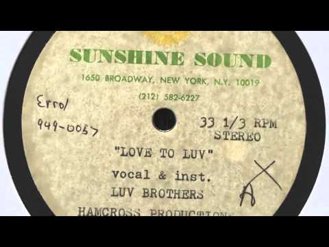 Luv Brothers - Love to Luv (unreleased Mix) (Sunshine Sound Acetate 1990)