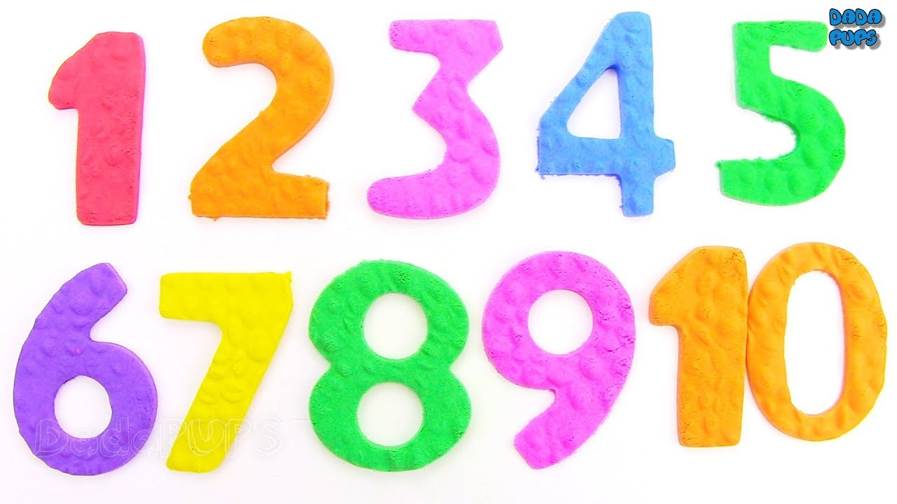 Learn To Count 123 for Kids|How To Make Colored NUMBERS 1 ...