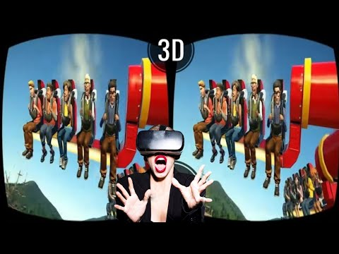VR VIDEOS 3D Roller Coaster VR Theme Park with TOP 10 ATTRACTIONS for VR