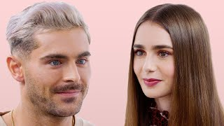 Zac Efron and Lily Collins Take a Friendship Test  Glamour