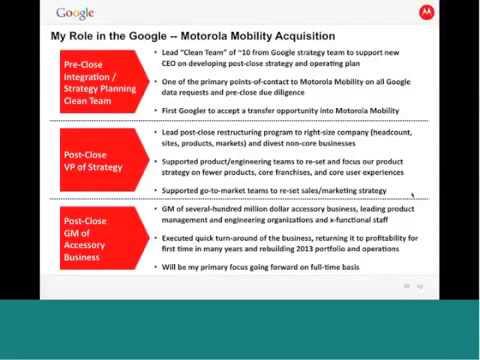 LGO Webinar: Matt Vokoun on Google acquisition of Motorola Mobility