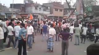 Stoneware & Stampede in Dhanbad during ramnavami juloos