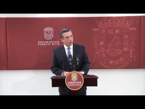 Gobernador hace expresiones sobre anuncio de Standard & Poor's