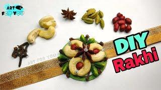 How To Make Unique Rakhi Using Cashews and Spices | Rakhi making ideas - DIY Rakhi