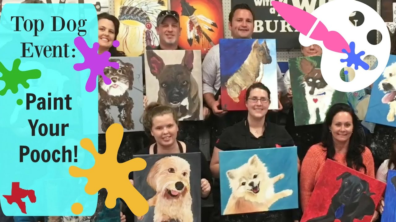 Painting With A Twist Dog Art Paint Your Pooch Event Fun Activity Youtube