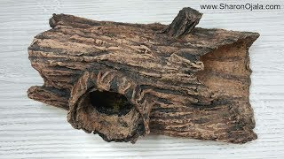 How To Make A Hollow Log From Foil And Paper Clay