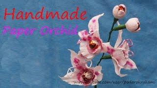Орхидея из конфет. Подарок своими руками. DIY paper Orchid(Как сделать орхидею из конфет. How to make an orchid of candy. Подробный мастер-класс. https://www.youtube.com/watch?v=2KCh1ipcT2g Чтобы сдела., 2013-10-28T21:40:26.000Z)
