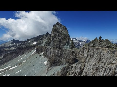 Amazing Drone Video - Flight through mountain hole 4k