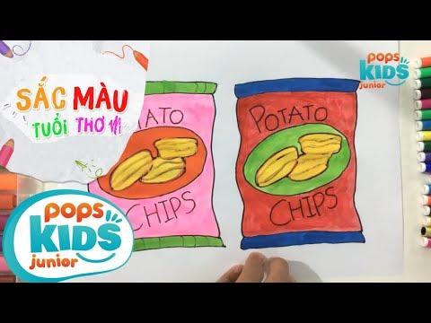 Sắc Màu Tuổi Thơ – Tập 49 – Bé Tập Vẽ Bánh Snack   How To Draw Colorful Snack