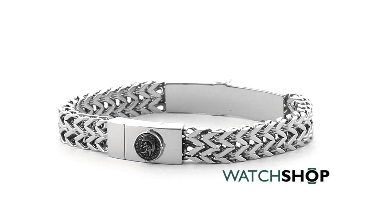 Diesel Jewellery Men\'s Stainless Steel Bracelet (DX1033040) - YouTube