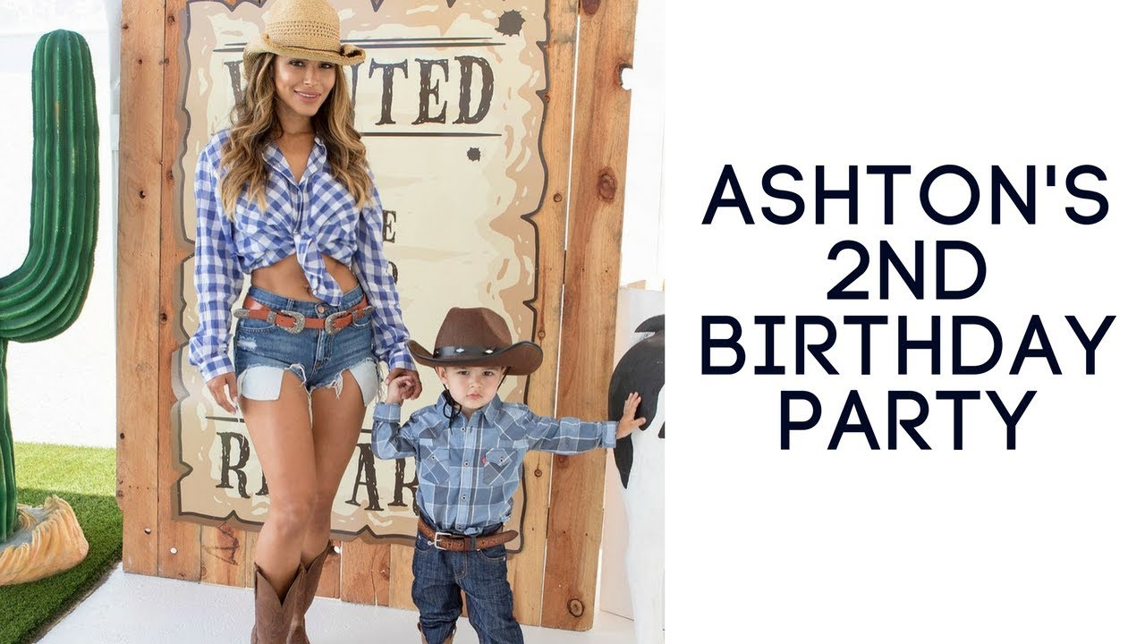 Toddlers Western Cowboy Themed Birthday Party Ashton Carter Turns 2yrs Old Youtube