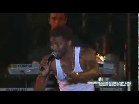 Konshens backed by Dub Akom Live Garance Festival 2013