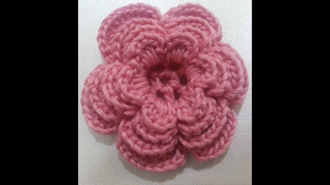 Crochet A Flower : Crochet flower tutorial #3 - YouTube