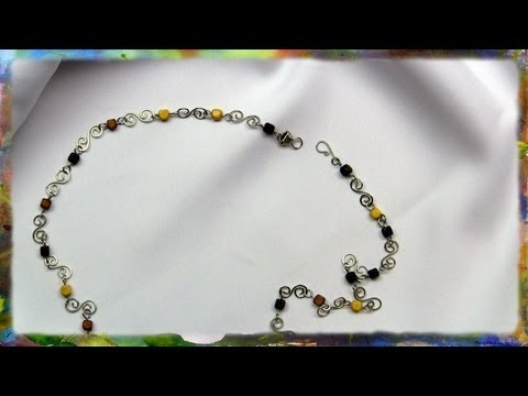 How To Make A Silver Wire S-Link Necklace With Beads by Ross Barbera
