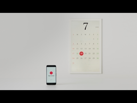 kosho tsuboi's tangible paper calendar syncs with your smartphone