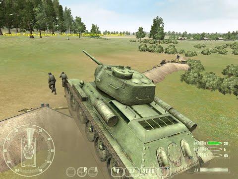 """T-34 против «Тигра» ч.1 - """"T-34 Vs Tiger Tank"""" Прохождение игры: ч.1 Освобождение"""