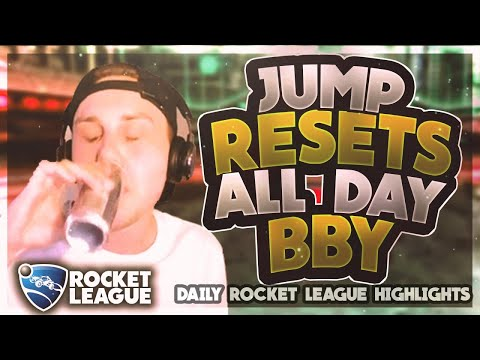 Sick Rocket League Plays: jump resets all day bby thumbnail