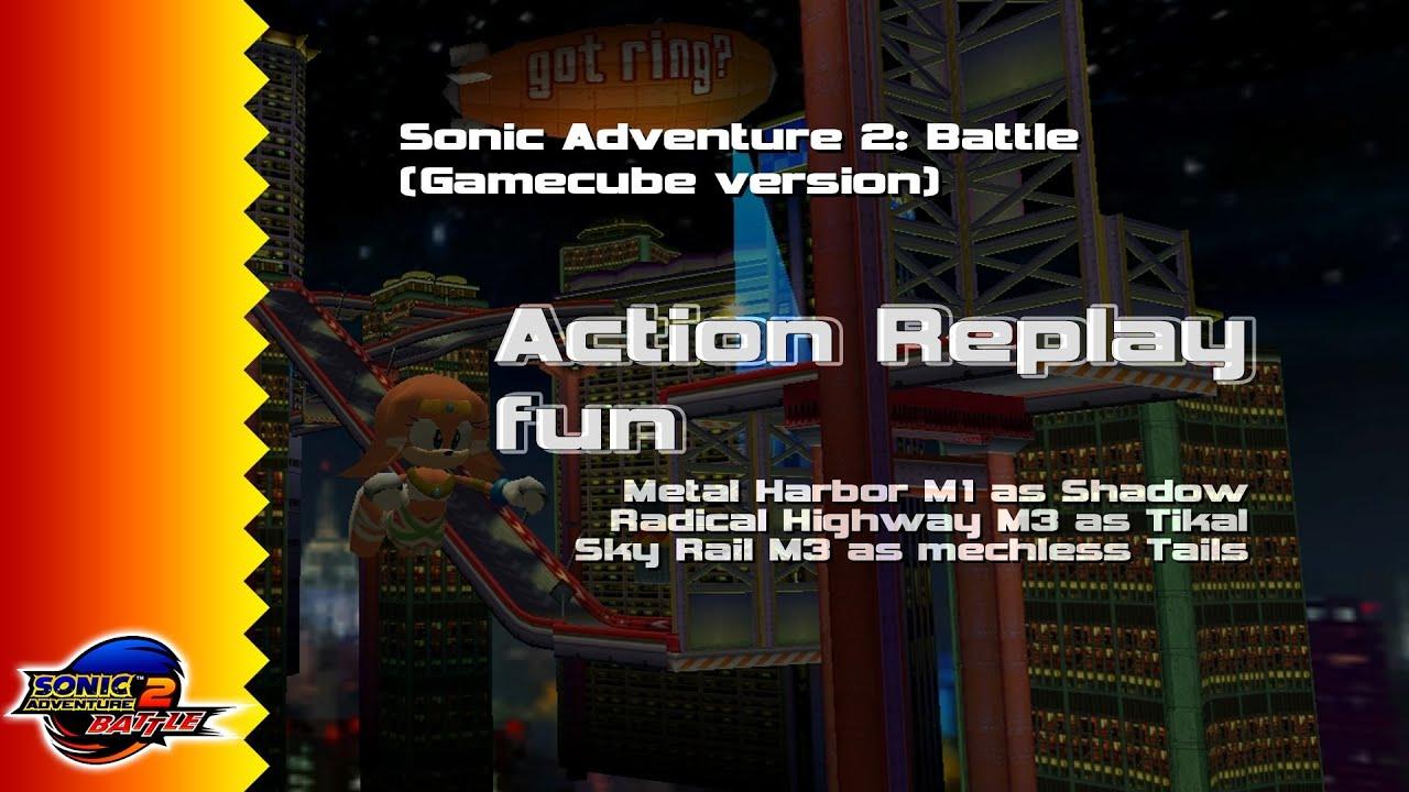 [AR] Sonic Adventure 2: Battle (GC/Emu) // Action Replay fun