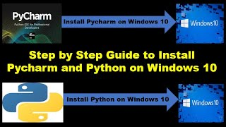Install Python 3.7.X and  Pycharm version in Windows 10
