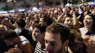 אחרי הזכייה באירוויזיון של נטע ברזילי - TOY: אלפים חוגגים בכיכר רבין בתל אביב, ישראל