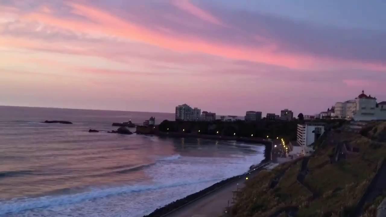 coucher de soleil la c te des basques vivre biarritz youtube. Black Bedroom Furniture Sets. Home Design Ideas
